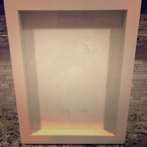 Shadow box for displaying necklaces . NEW